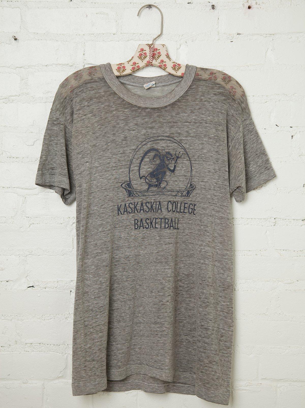 Vintage Kaskaskia College Basketball Tee