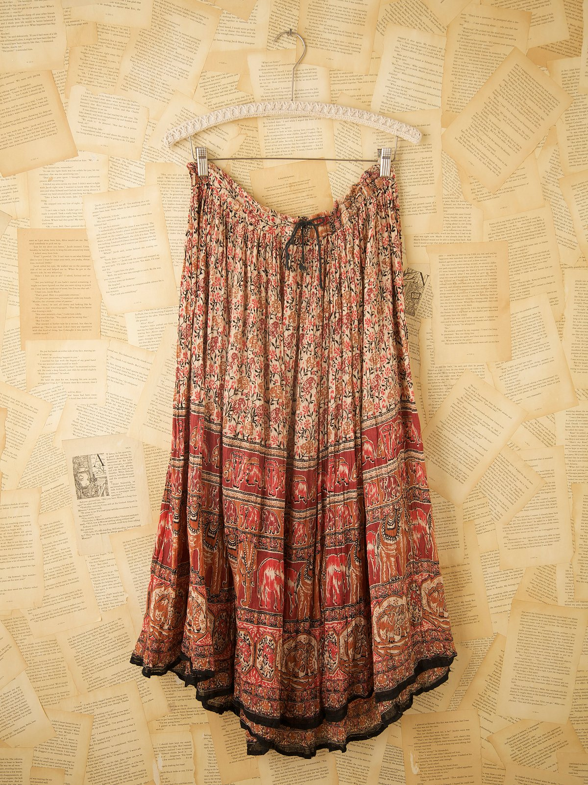 Vintage Indian Printed Long Skirts