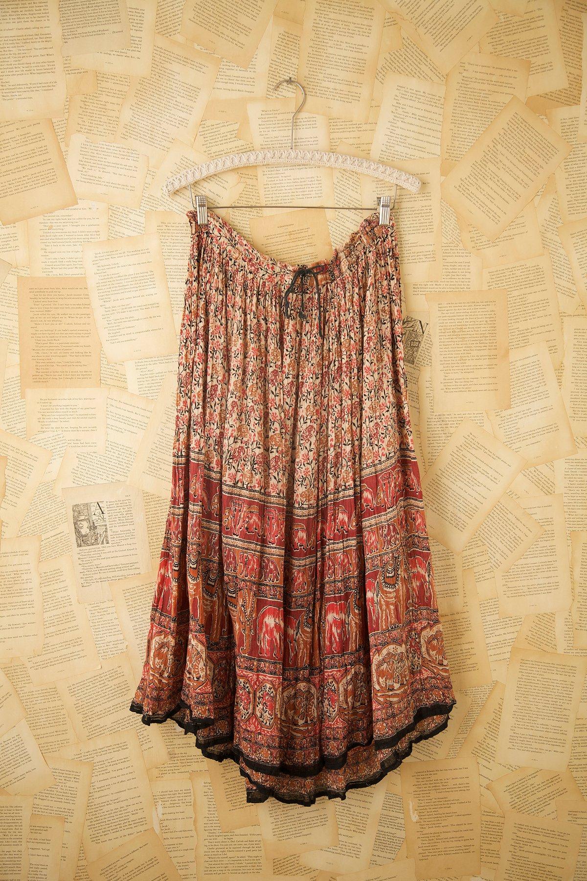 Vintage Indian Printed Long Skirts