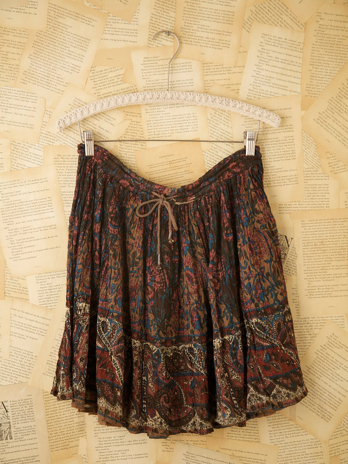 Vintage Short Indian Printed Skirts