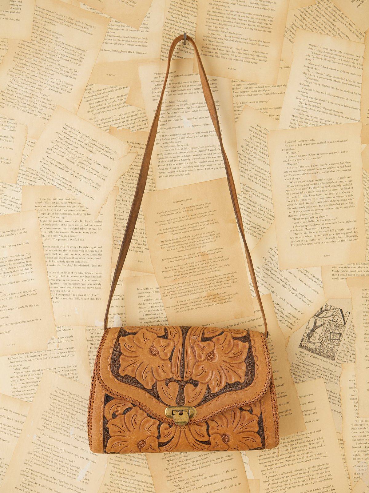 Vintage Tooled Handbag