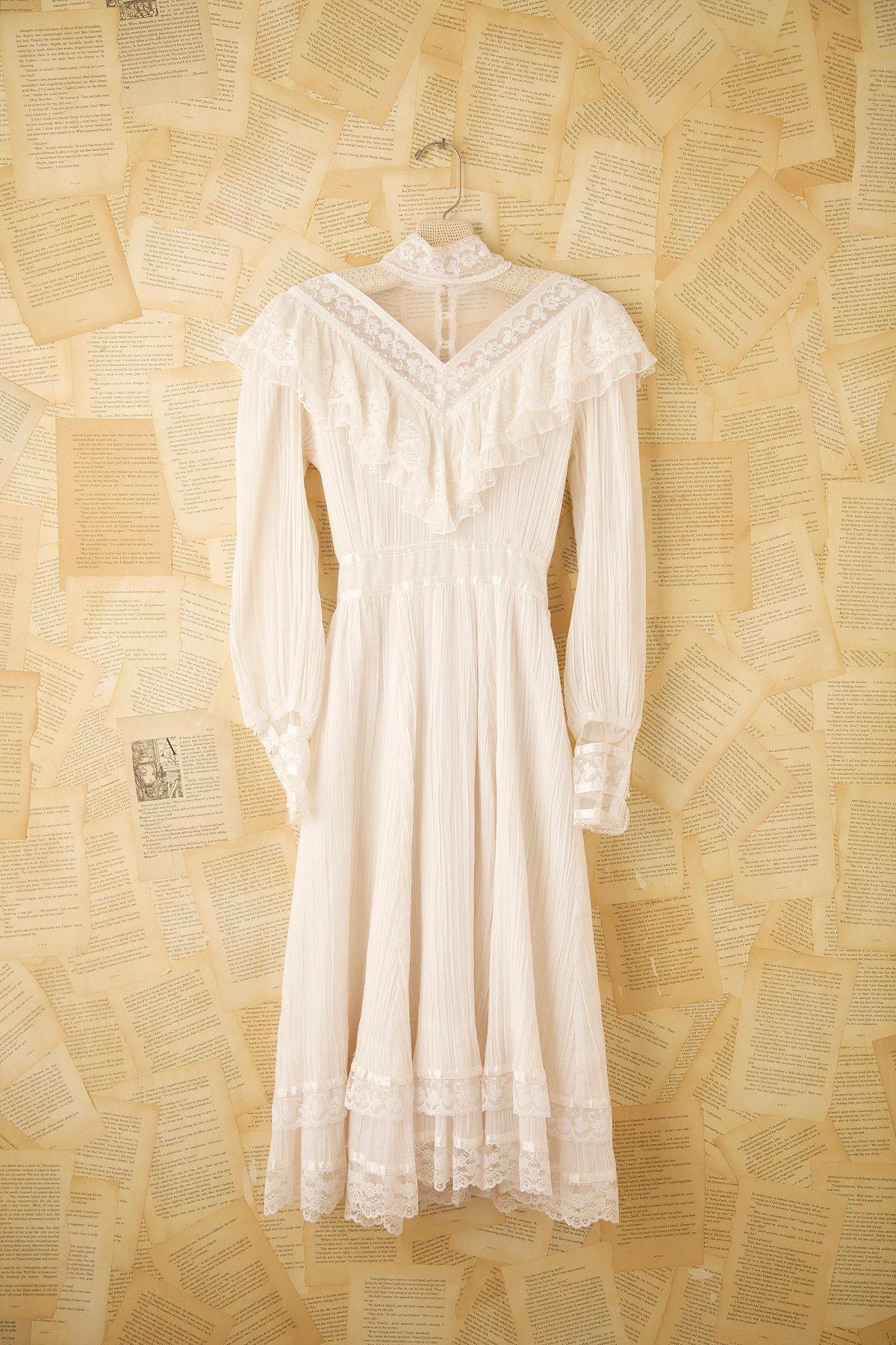 Vintage 1970s Victorian Dress