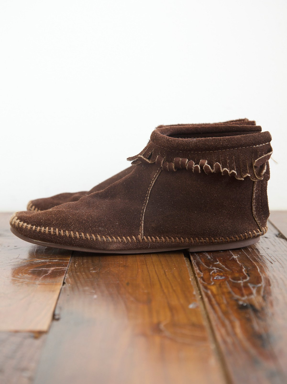 Vintage Brown Moccasins