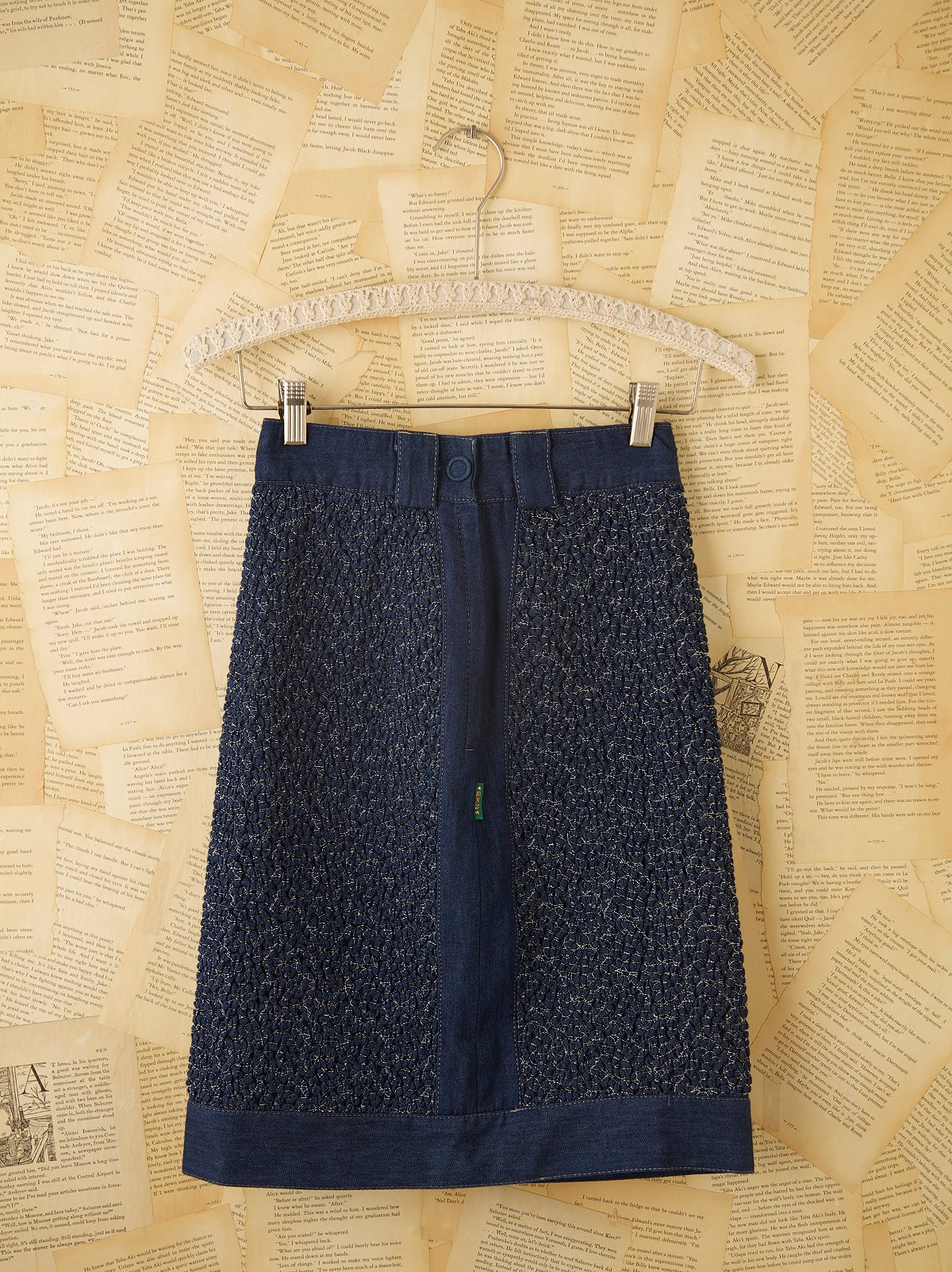Vintage Denim Pencil Skirt