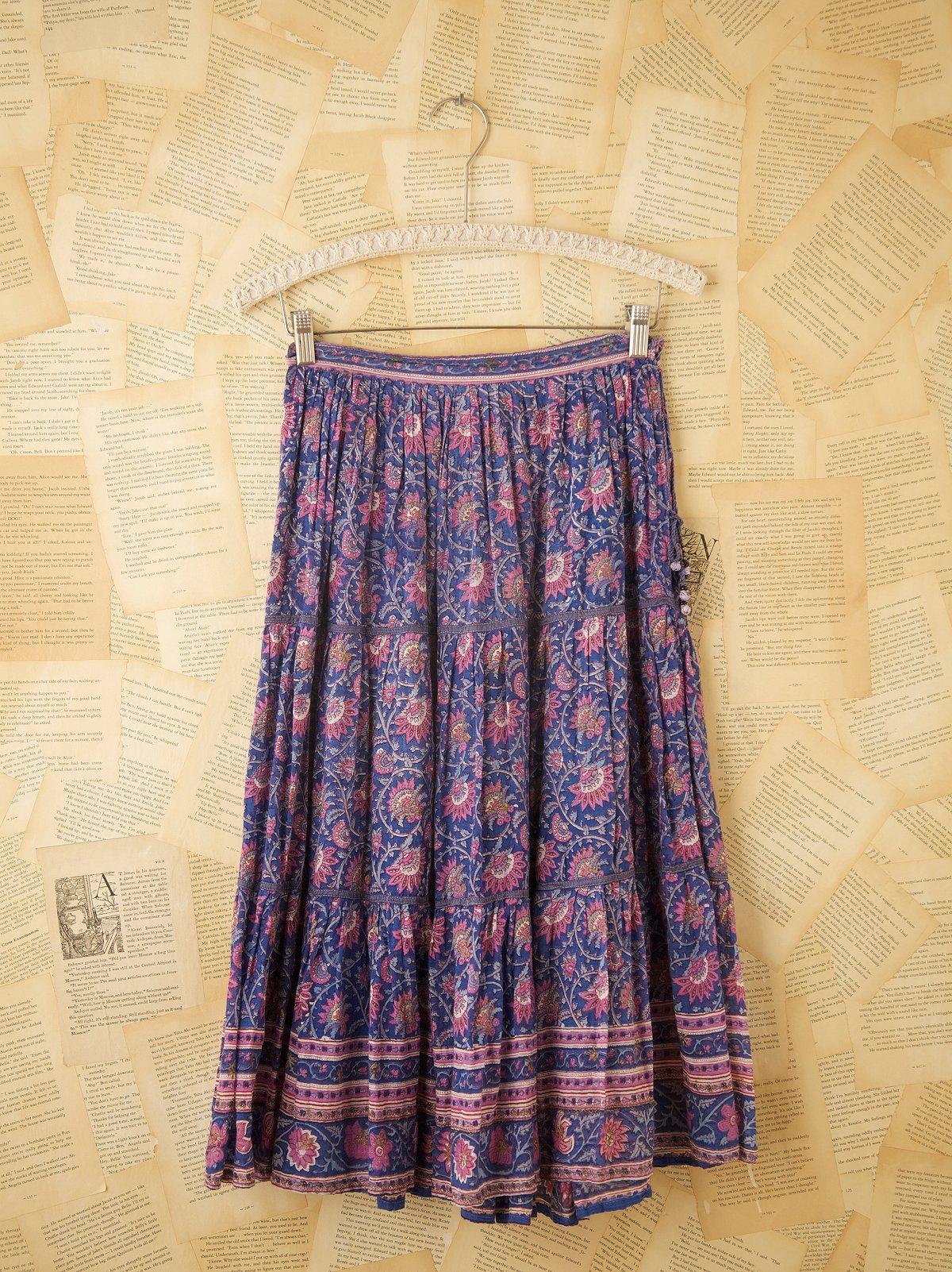 Vintage Indian Floral Skirt