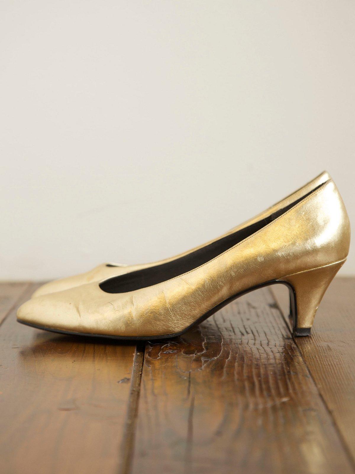 Vintage Gold Heels