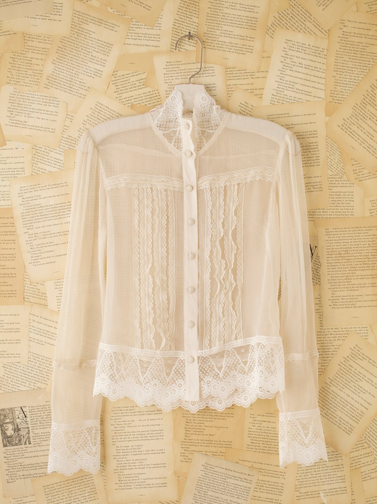 Vintage Lace Pintuck Shirt