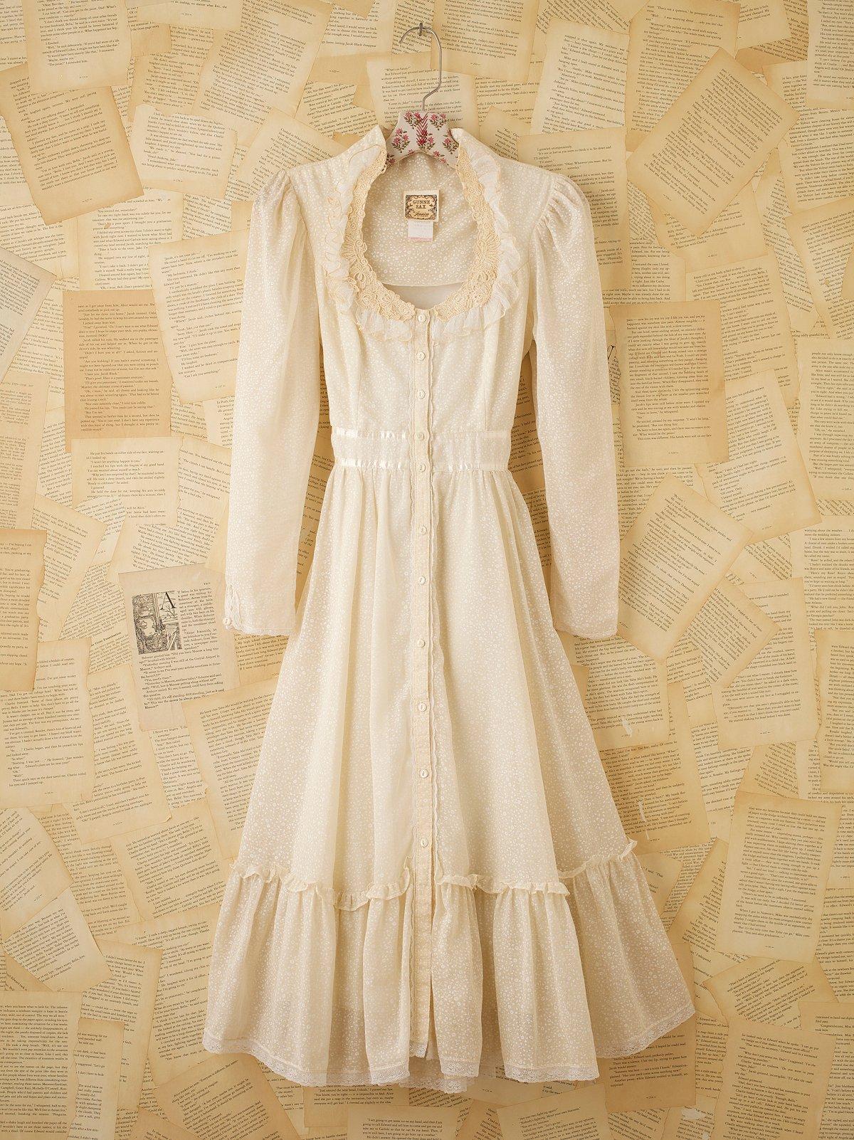 Vintage 1970s Lace Dress