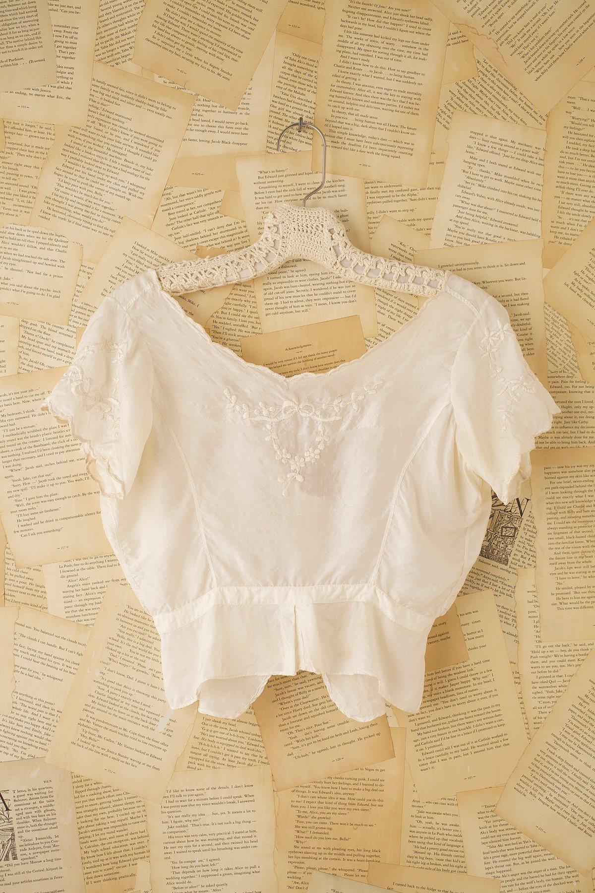 Vintage Silk Victorian Top