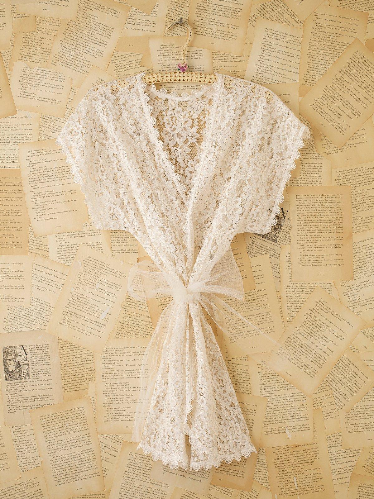 Vintage Lace Maxi Cardigan