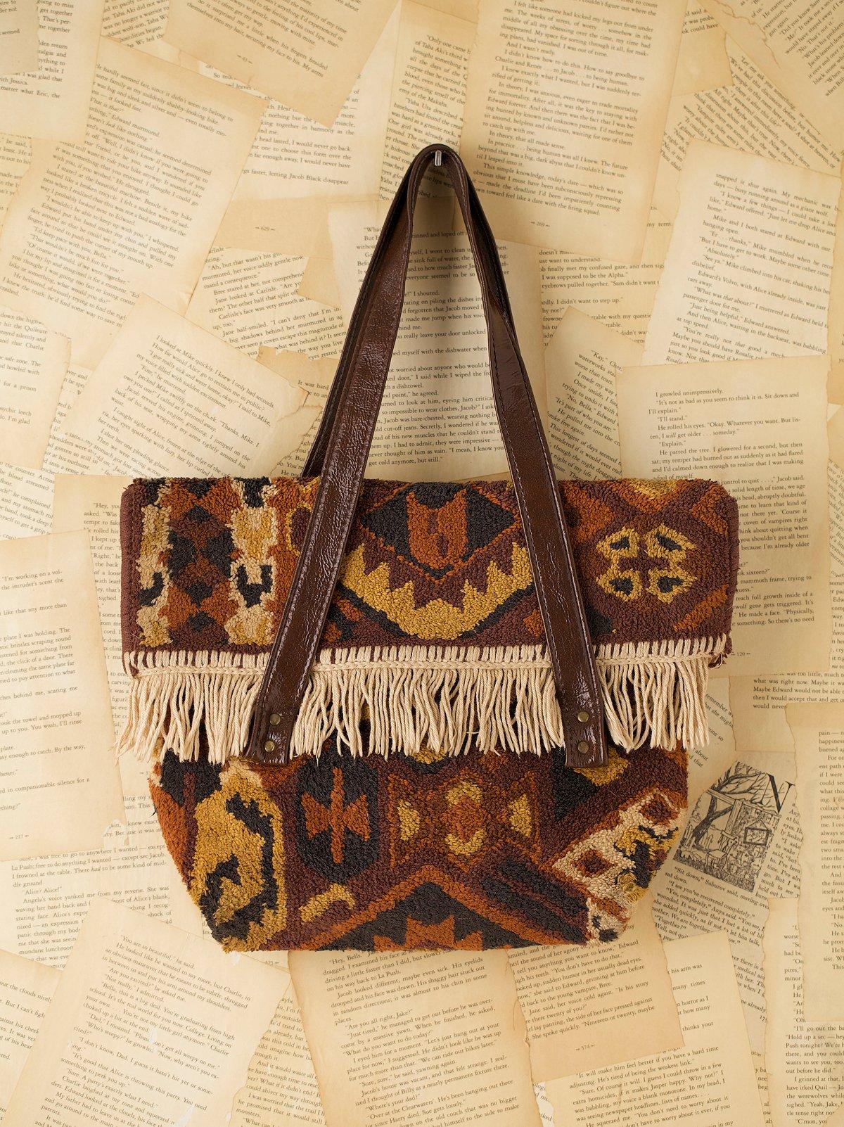Vintage 1970s Carpet Bag