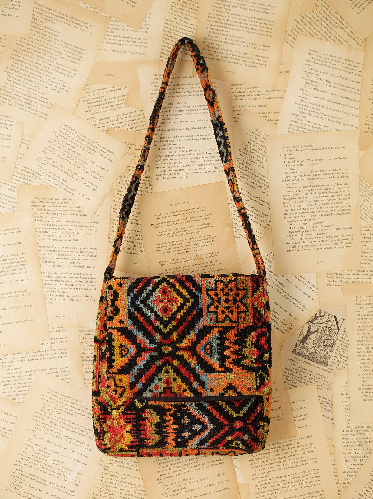 Vintage 1970s Carpet Bag
