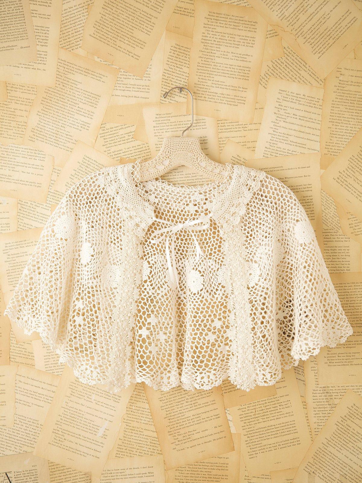 Vintage Crochet Cape
