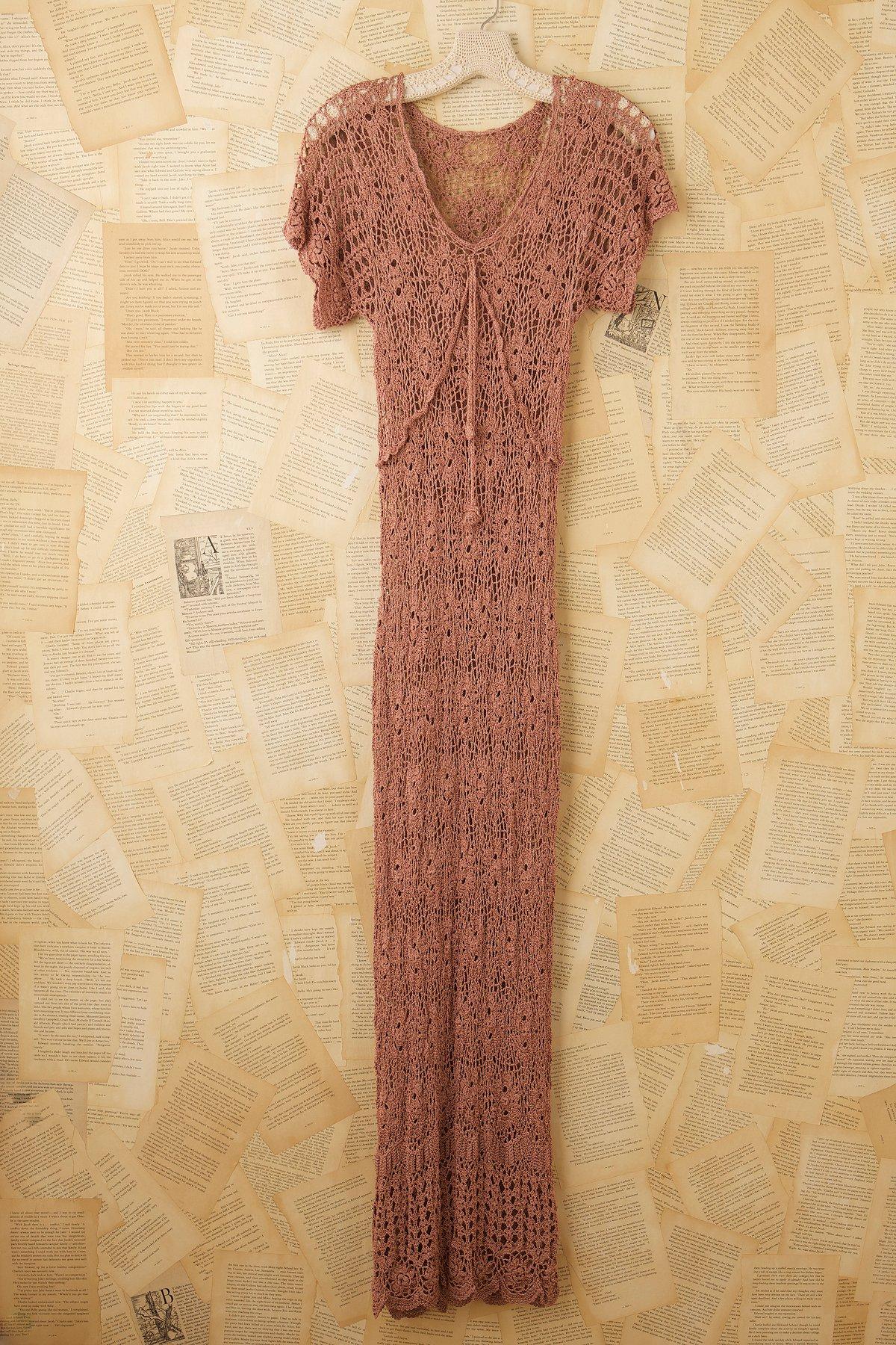 Vintage Crochet Maxi Dress