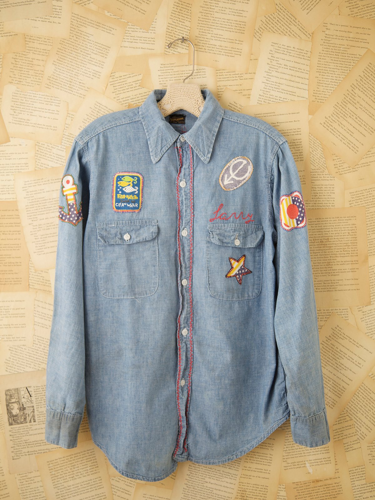 Vintage Patched Denim Shirt
