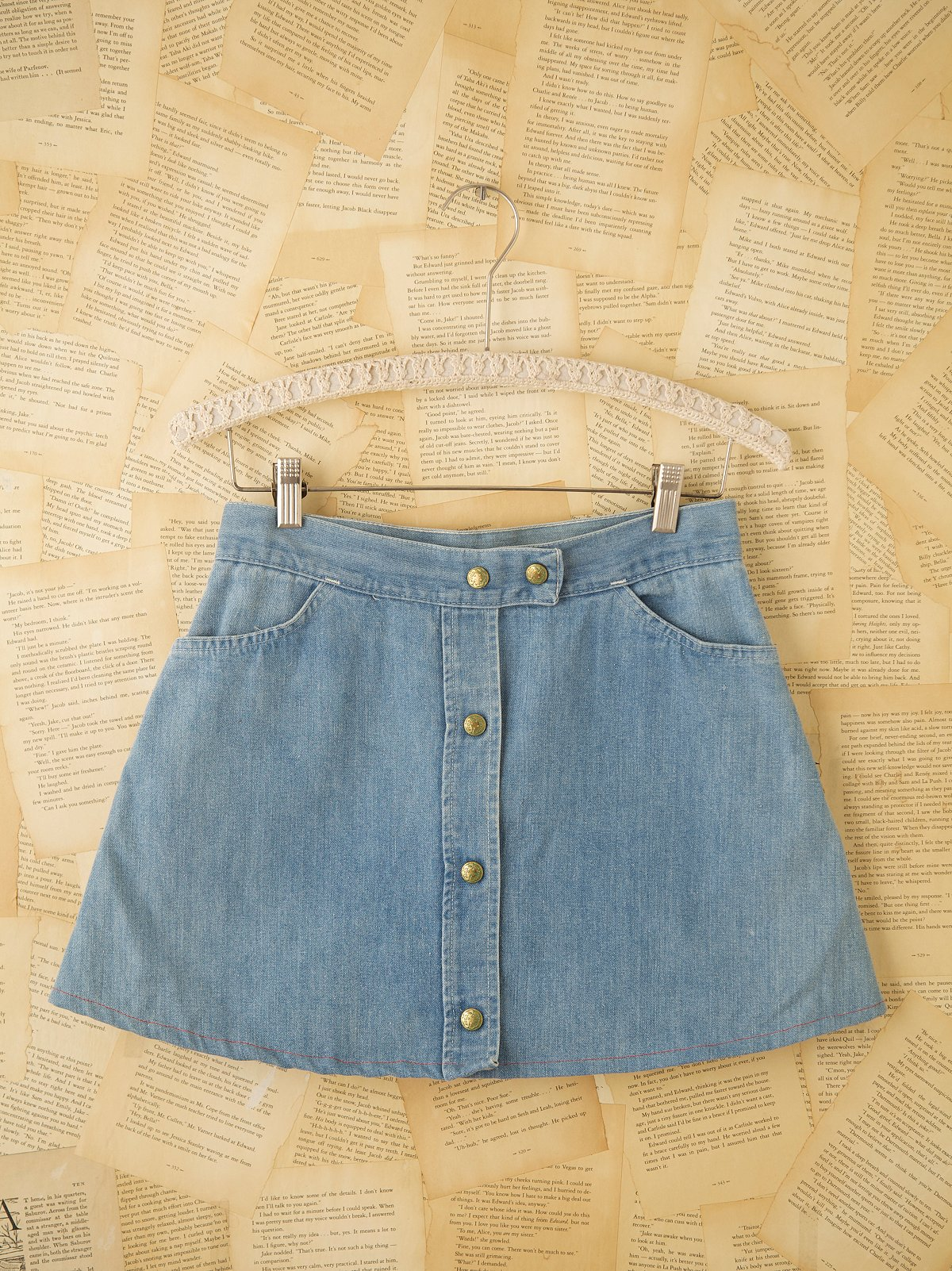 Vintage Denim Snap Skirt