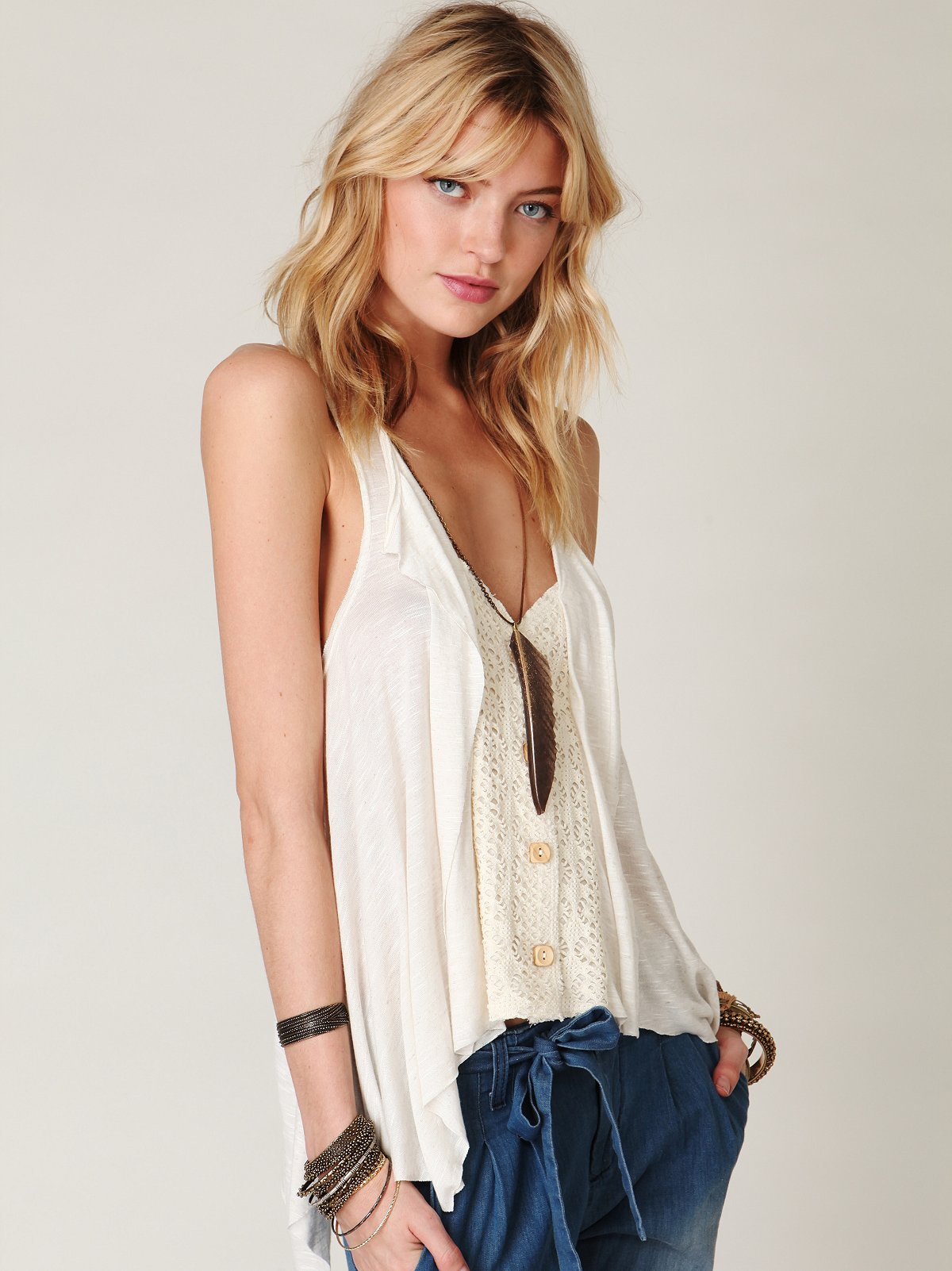 Love Joy Buttonfront Vest