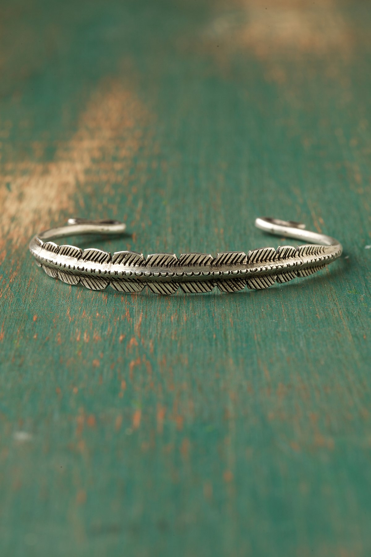 Feather Etched Cuff