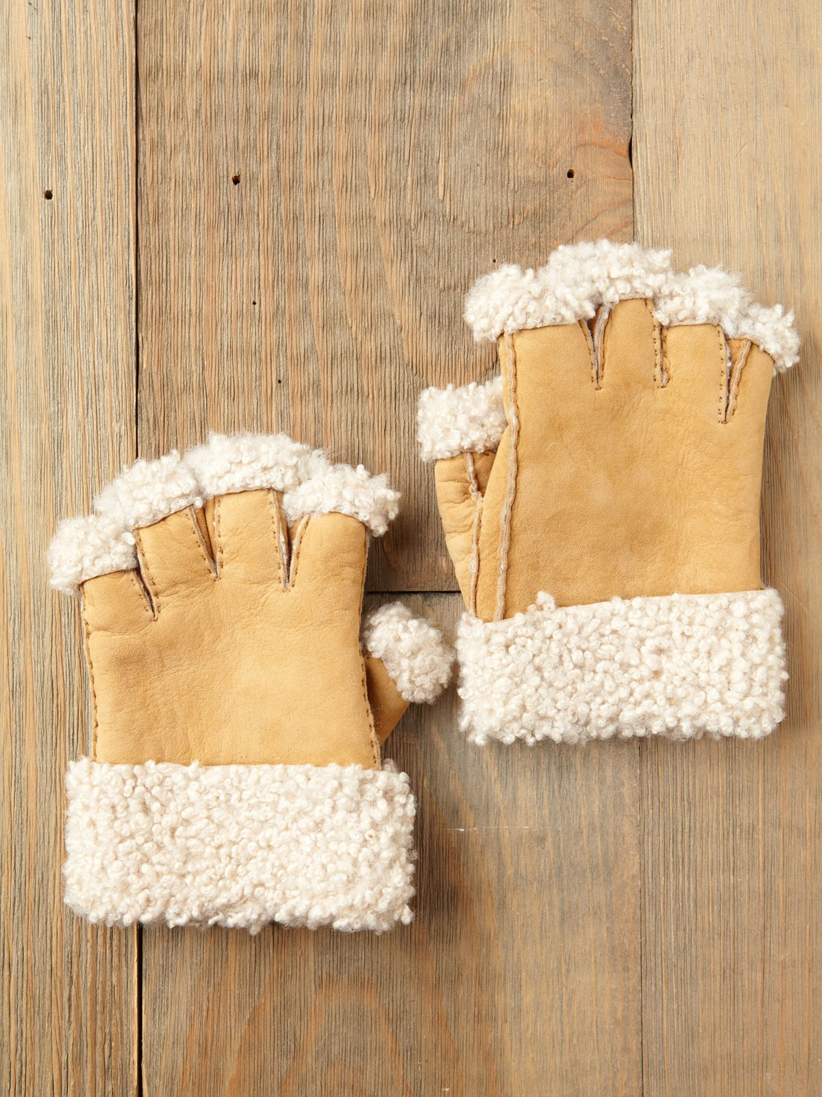 Sherpa Fingerless Gloves