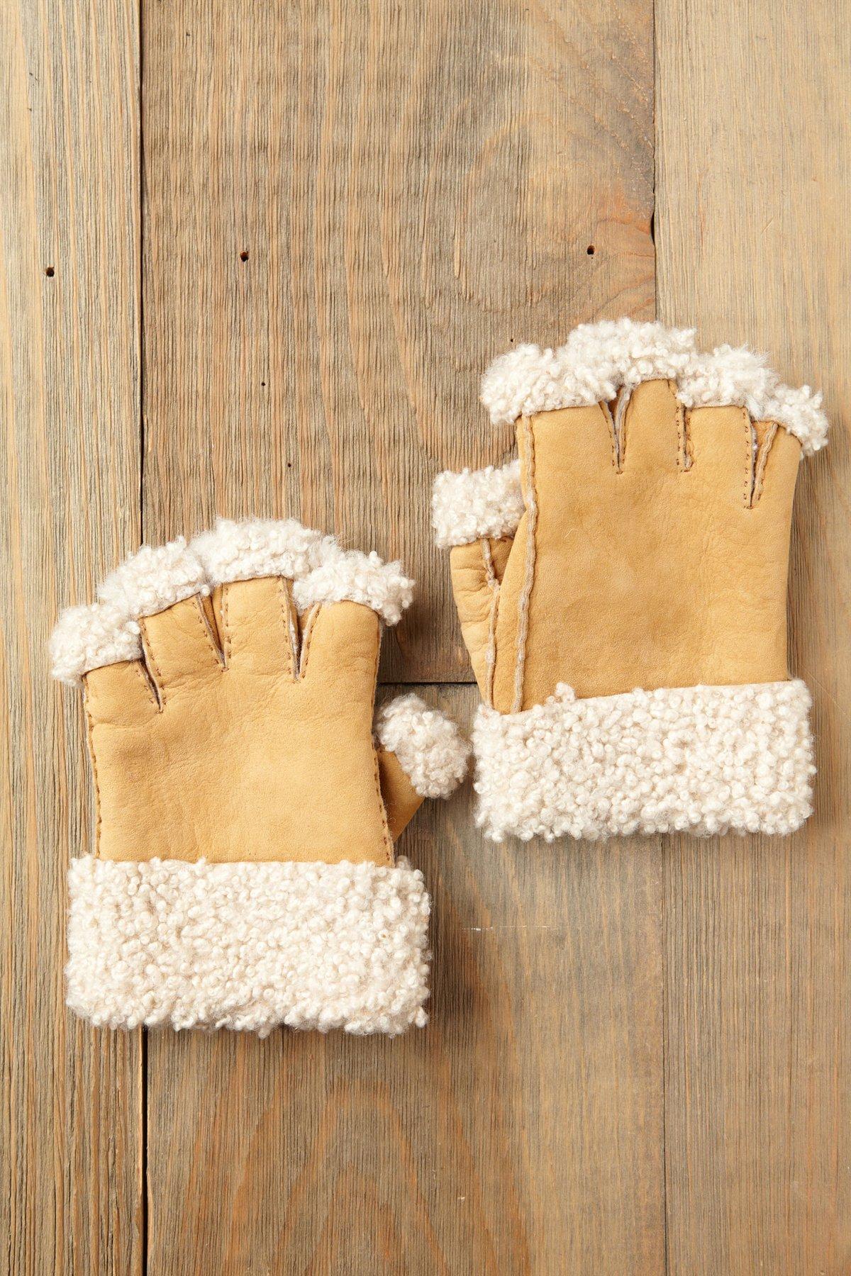 Sherpa Fingerless Gloves