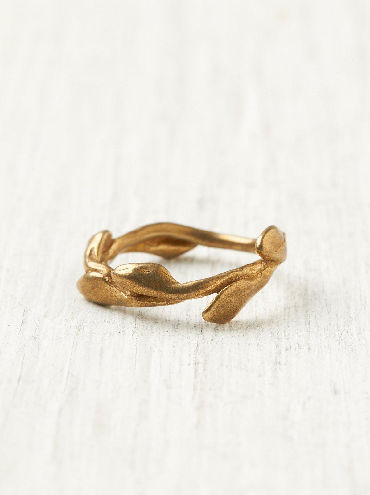 Leaf Band Ring