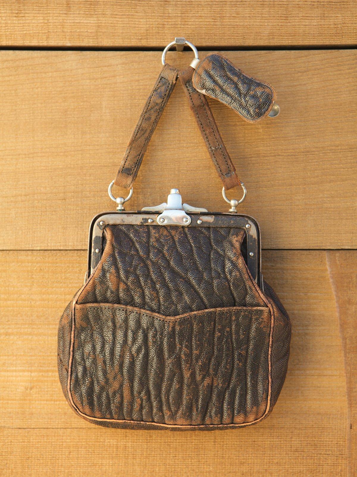 Vintage Cracked Leather Bag