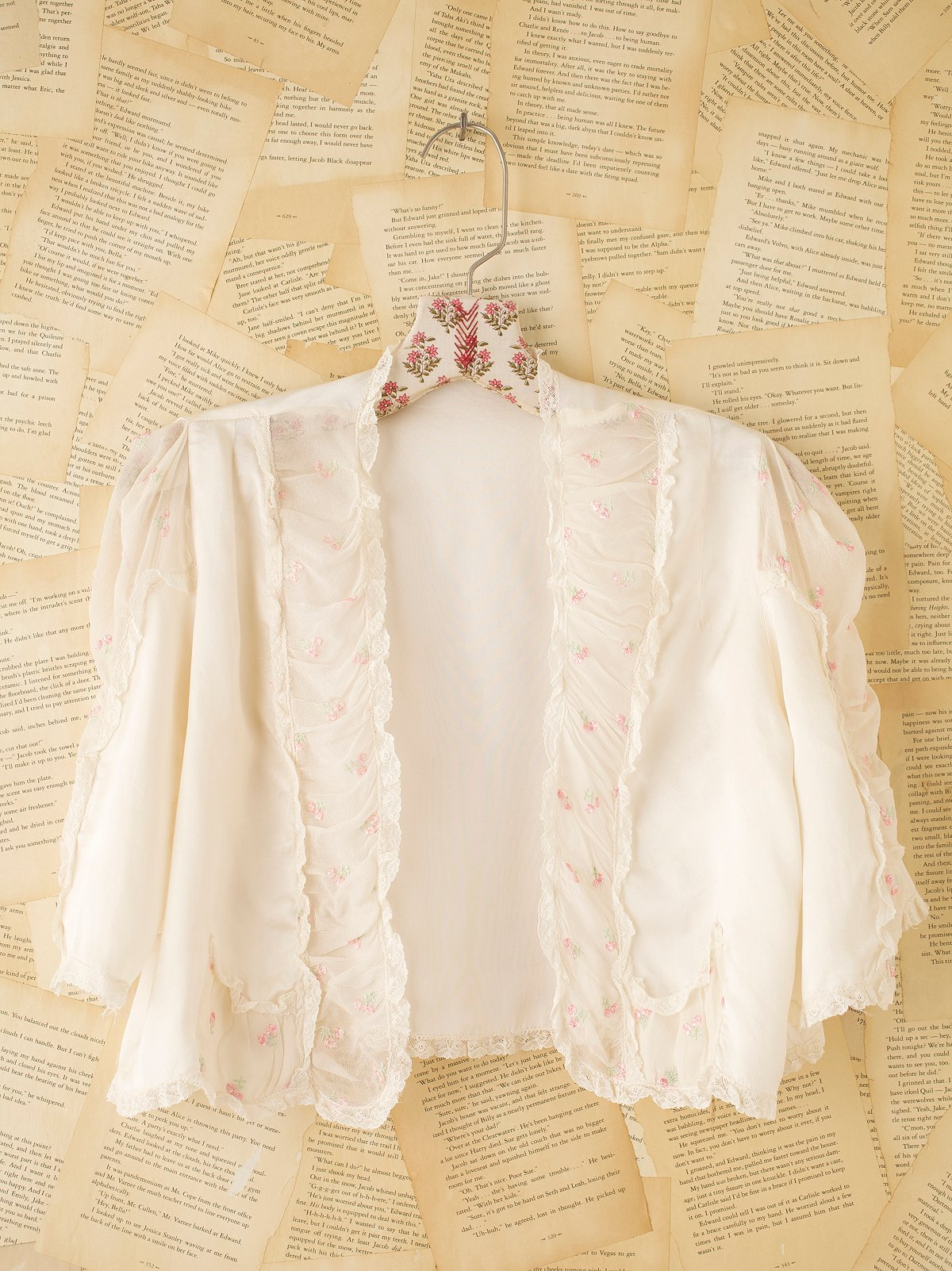 Vintage Silk Embroidered Chemise Jacket
