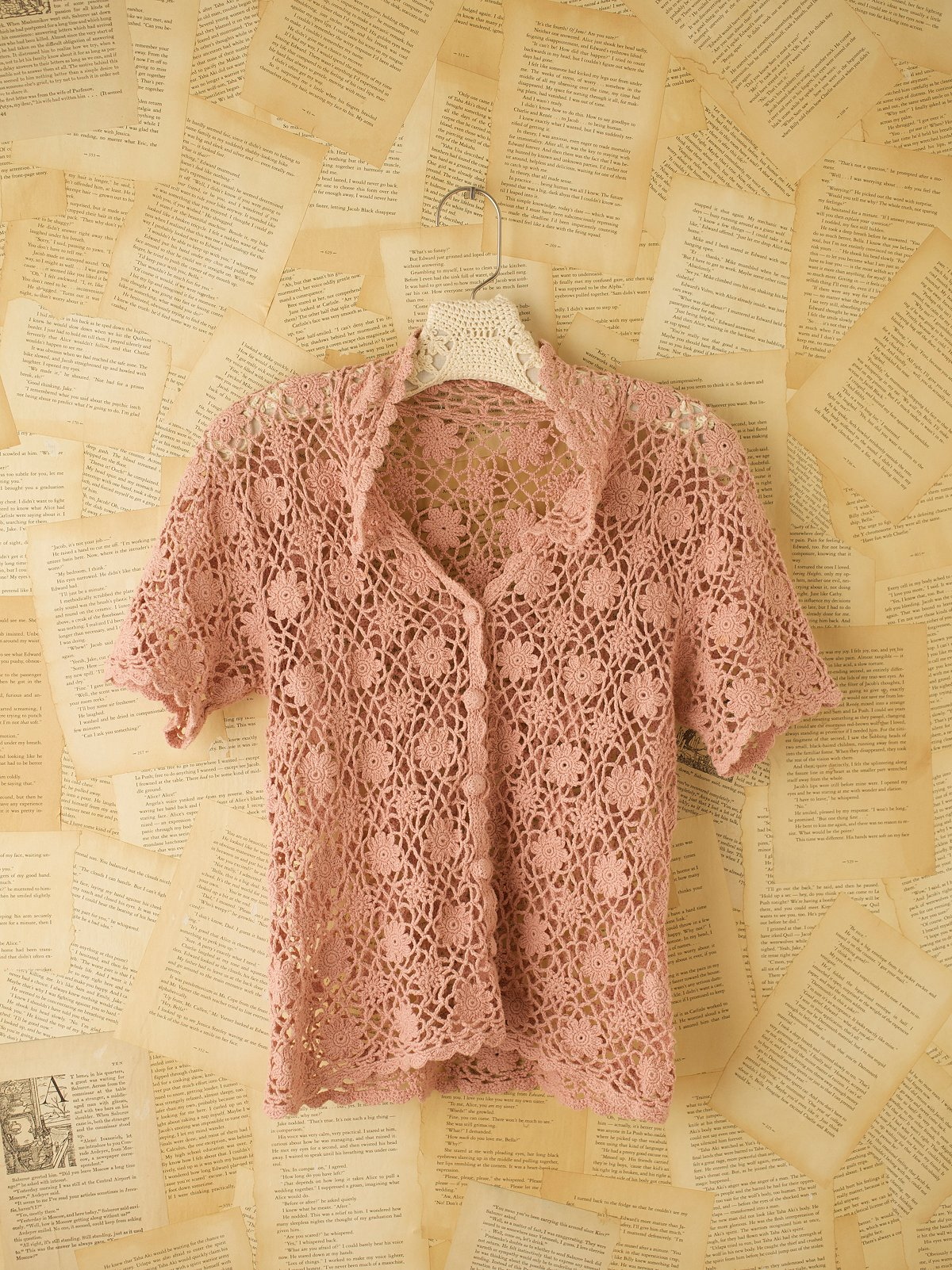 Vintage Crochet Floral Top