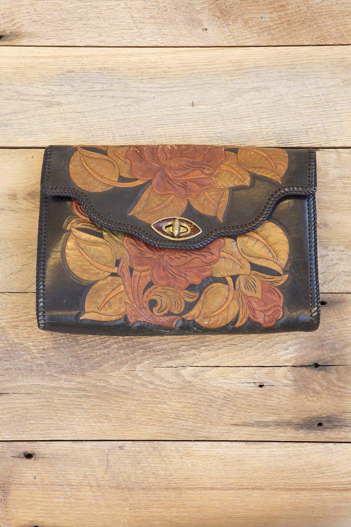 Vintage Western Tooled Bag