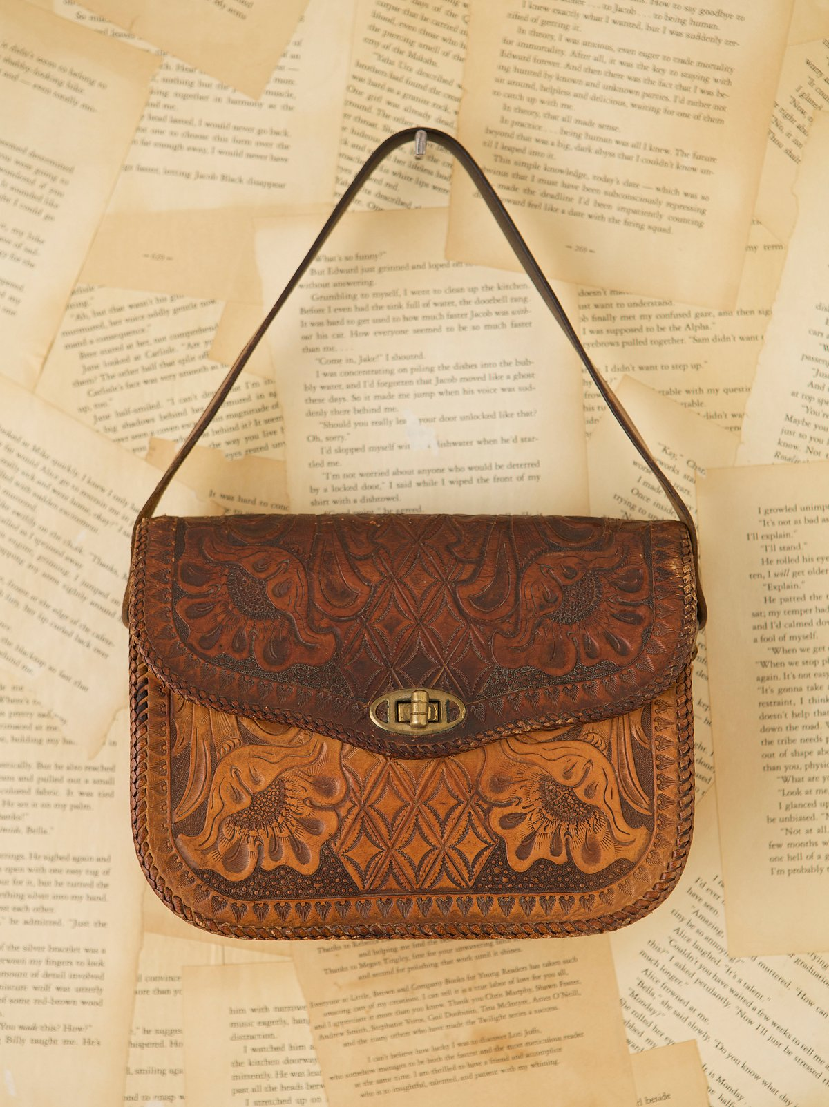 Vintage Western Tooled Bag