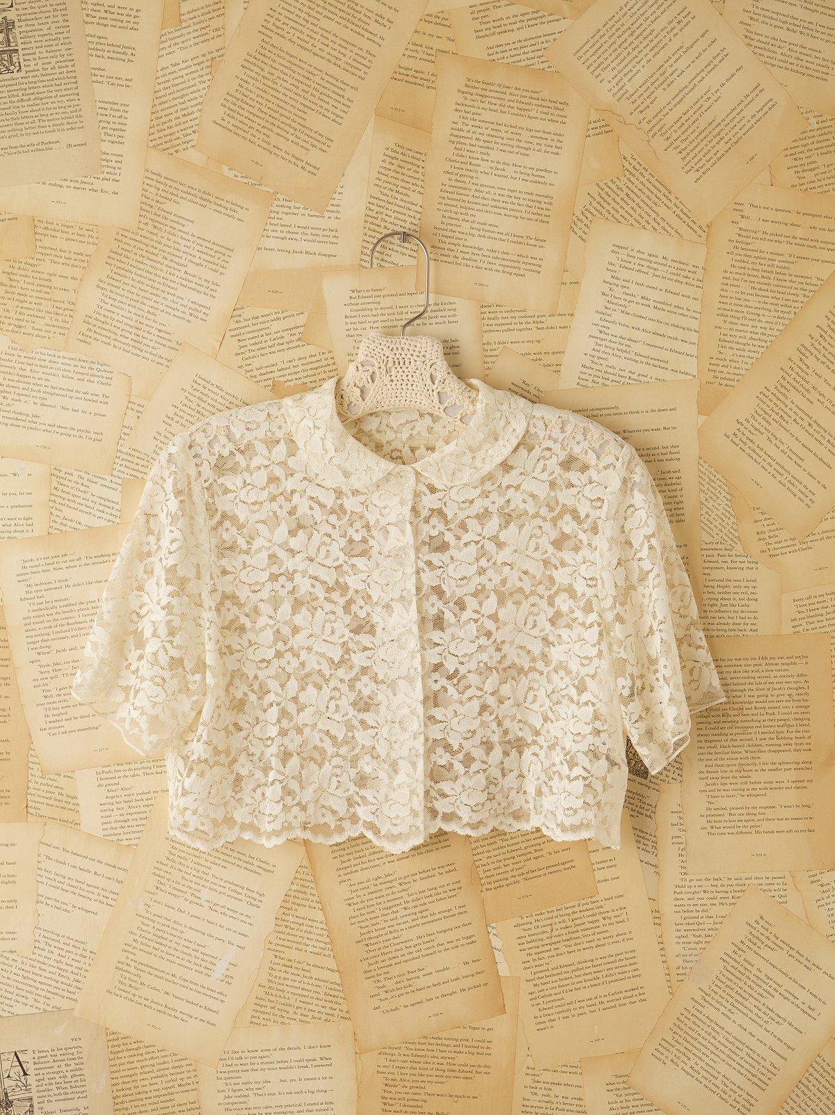 Vintage 1930s Lace Crop Top