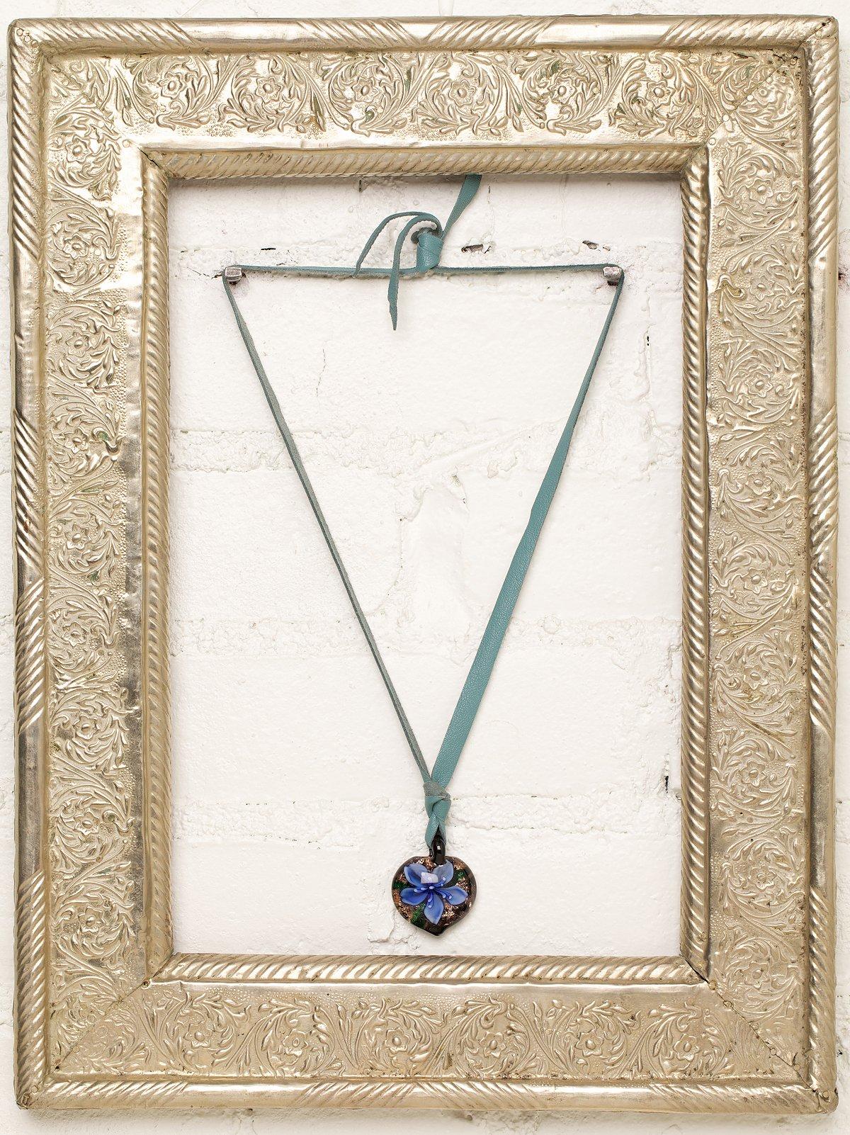 Vintage Hand Blown Glass Necklace