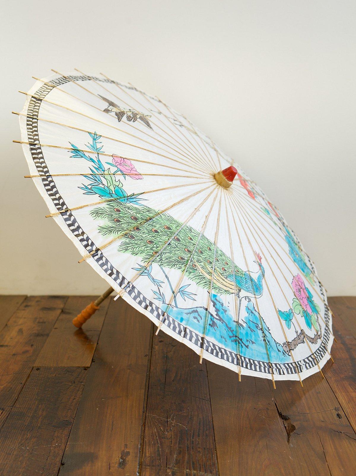 Vintage Bamboo Parasol
