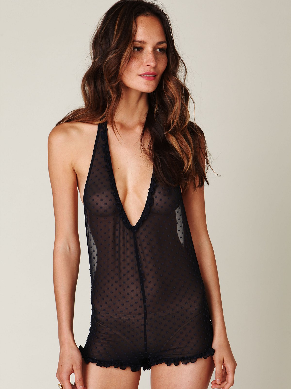 Halter Swiss Dot Playsuit