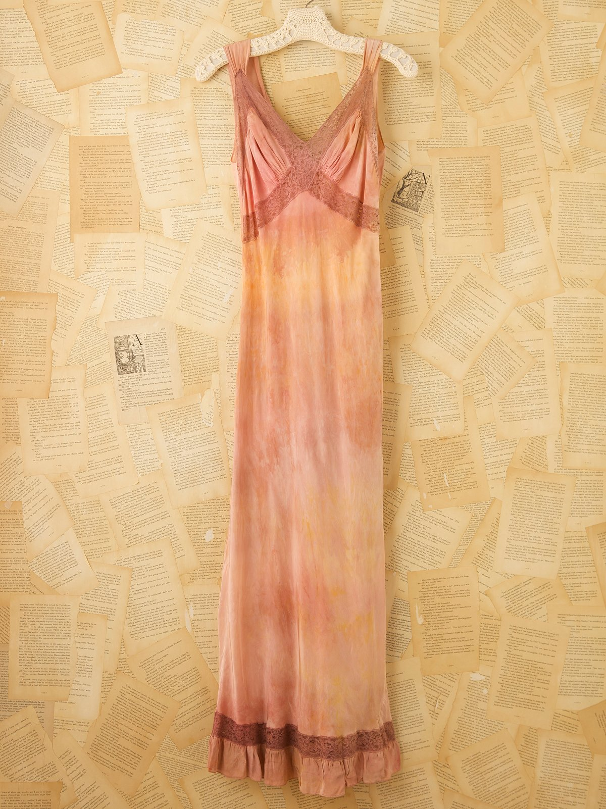Vintage Hand Dyed 1940s Gown