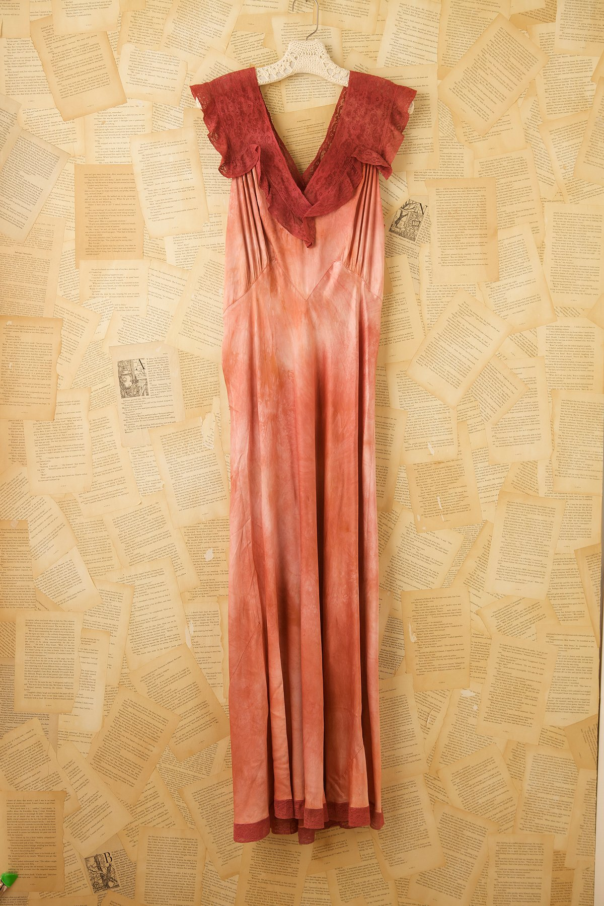 Vintage 1940s Hand Dyed Gown