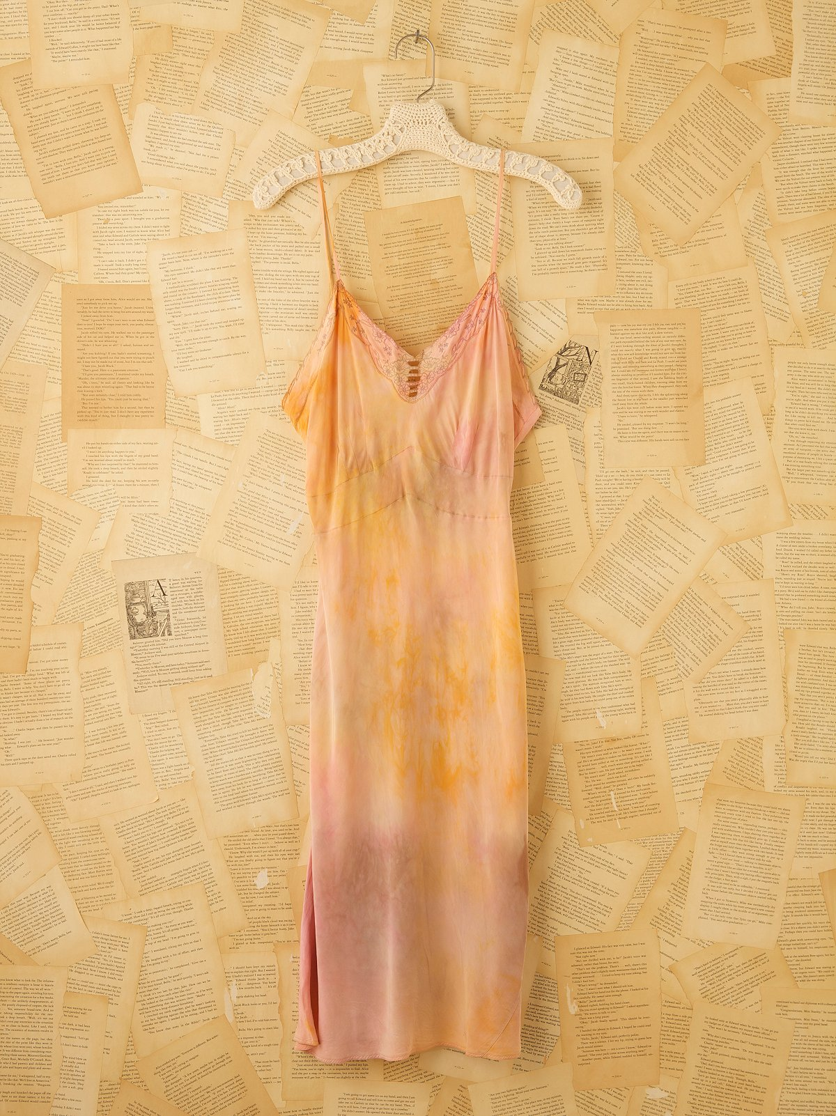 Vintage Hand Dyed 1940s Slip