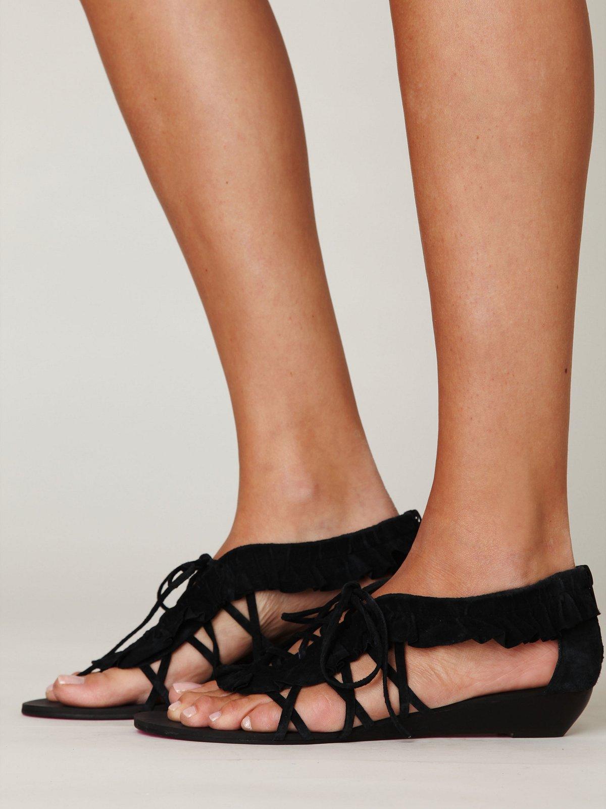 Ruffle Lace Sandal