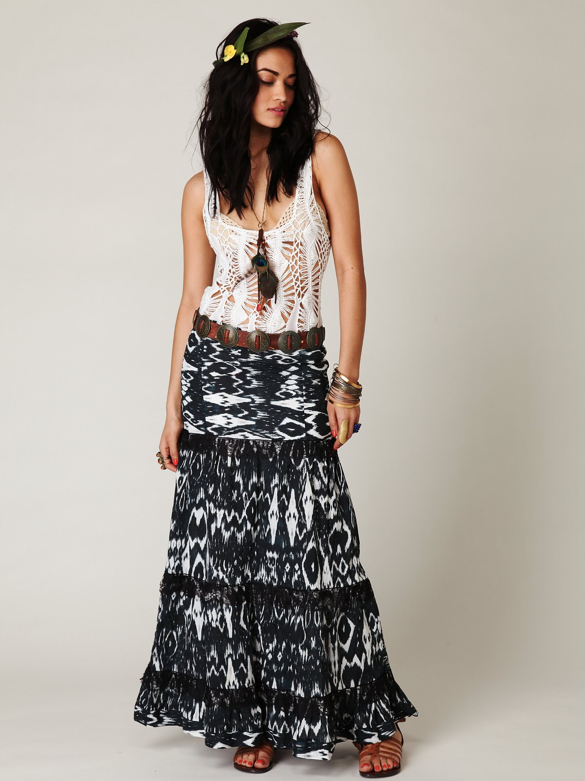 Ikat Lovie Maxi Skirt