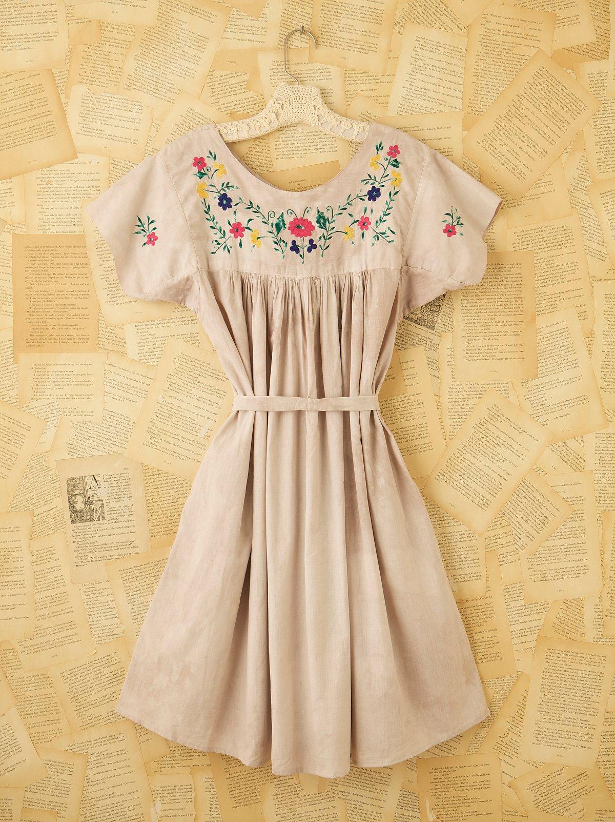 Vintage Grey Smock Dress