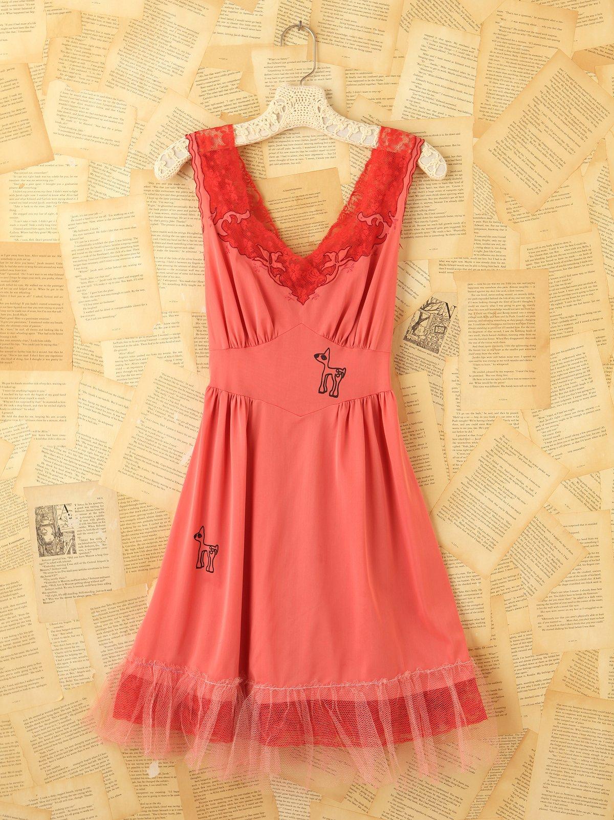 Vintage Pink Slip Dress