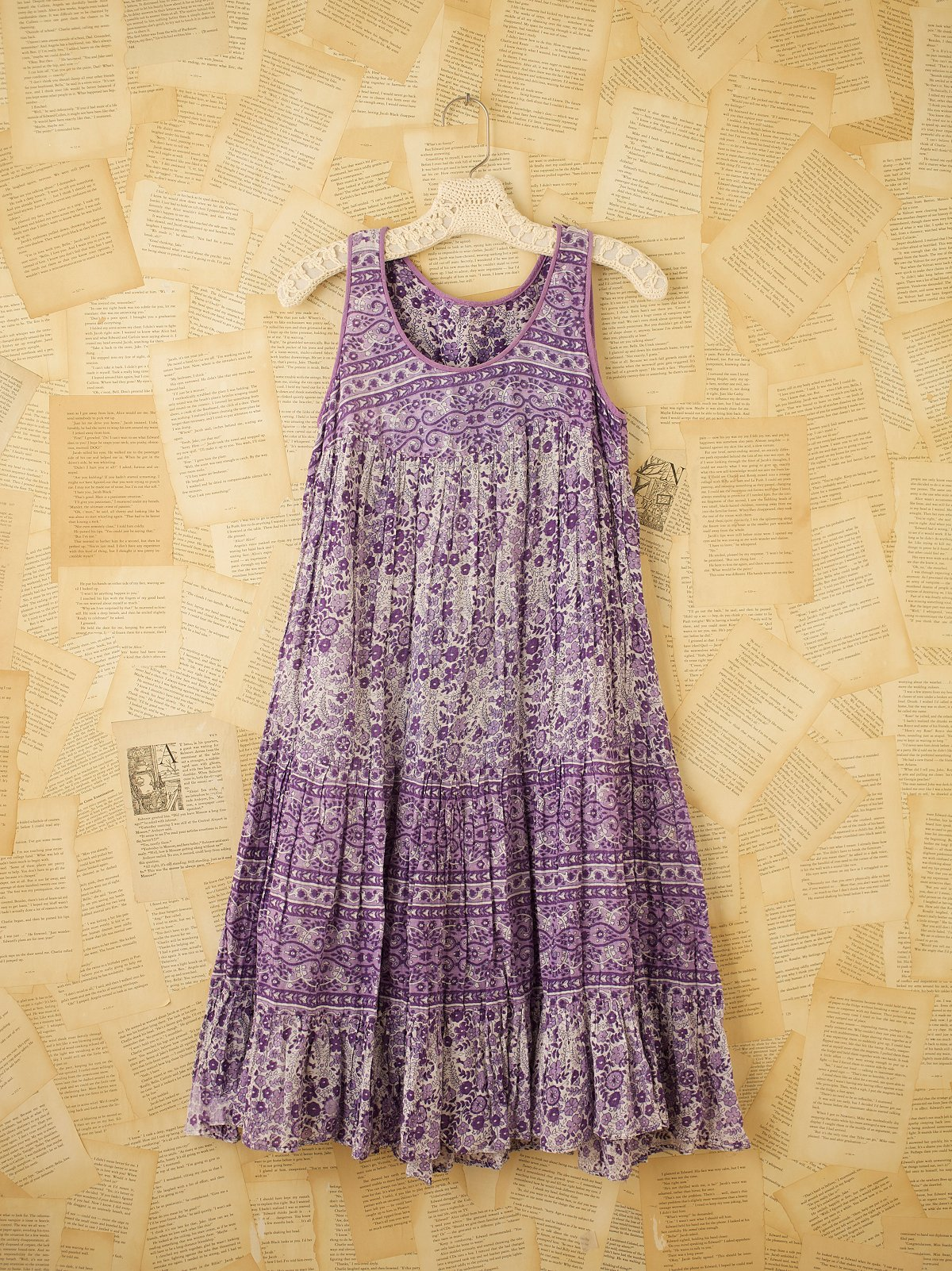 Vintage Purple Indian Gauze Dress