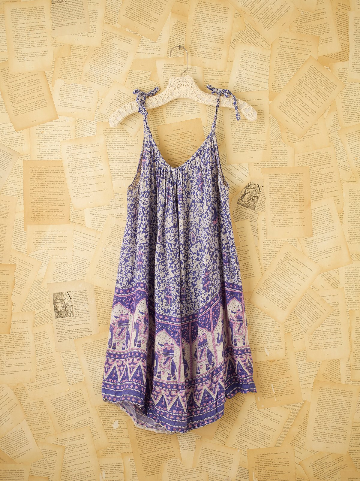 Vintage Blue Indian Gauze Dress