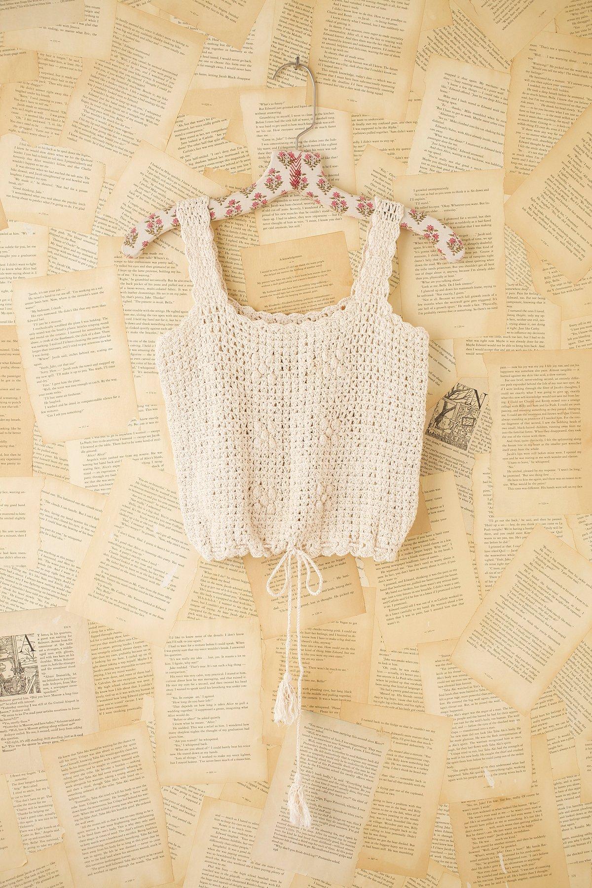 Vintage Crochet Crop Tank
