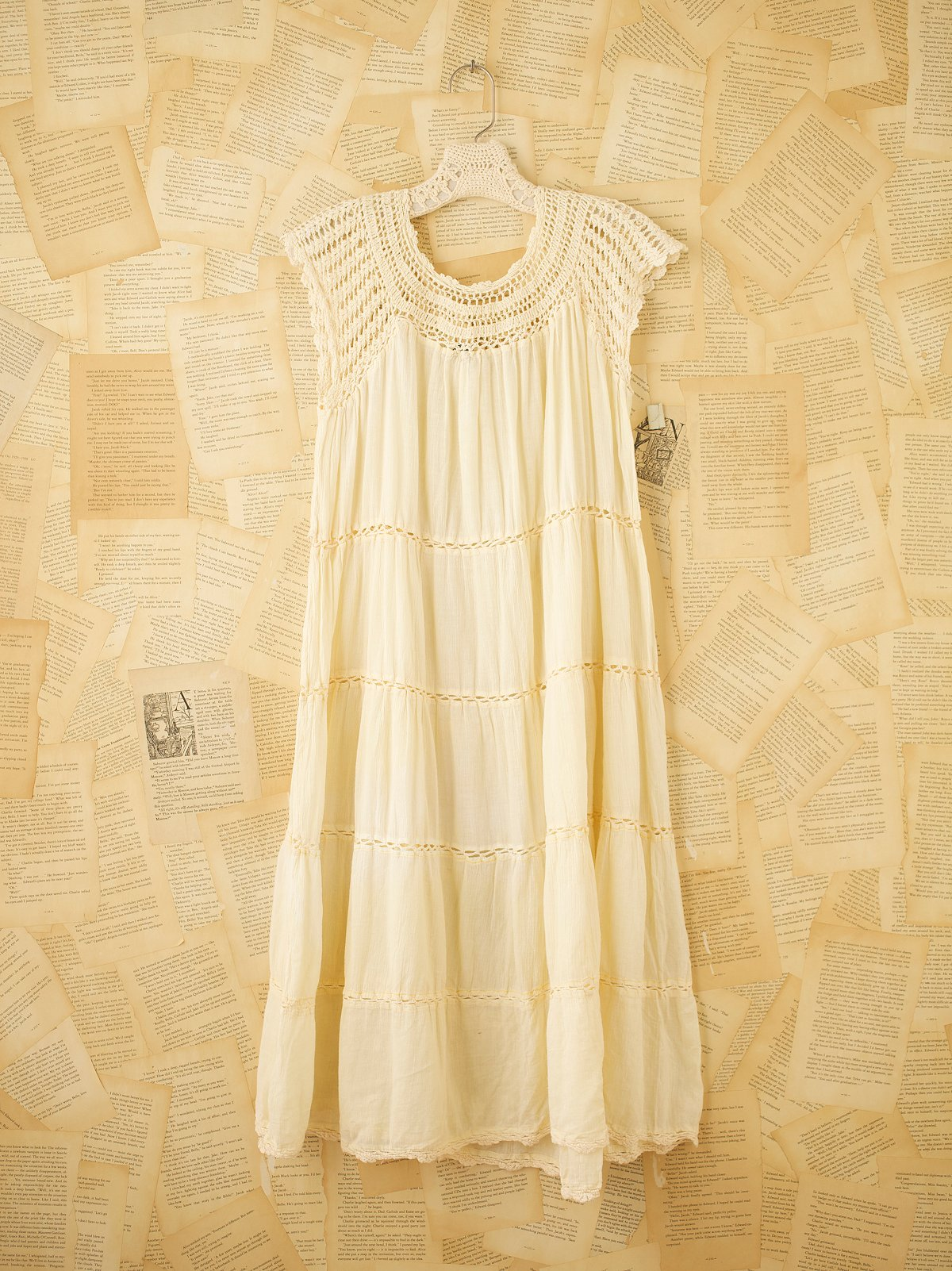Vintage Gauze Tier Dress