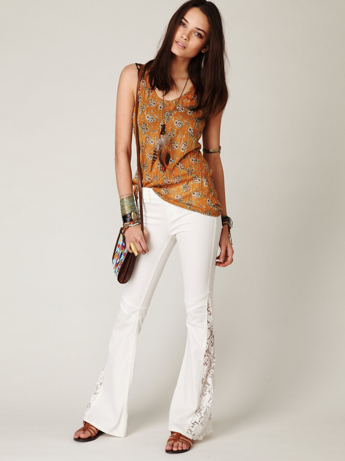 Lace Inset Flare