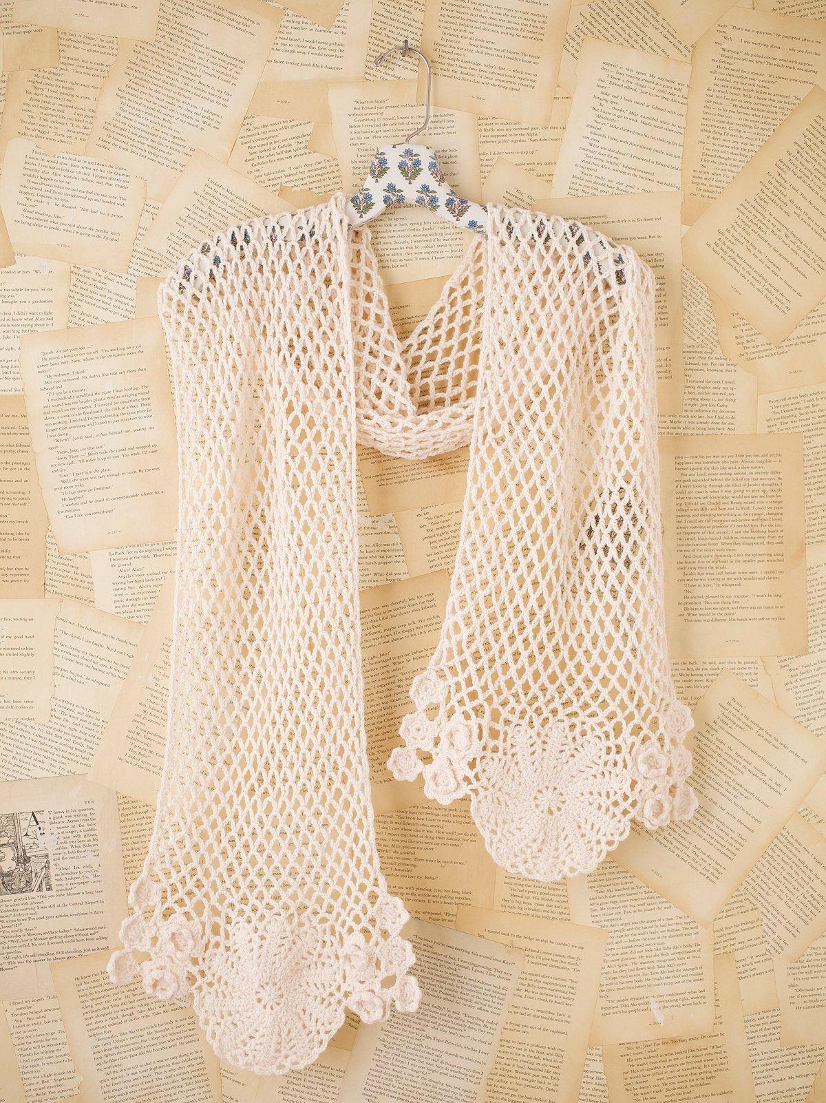Vintage Crochet Summer Scarf