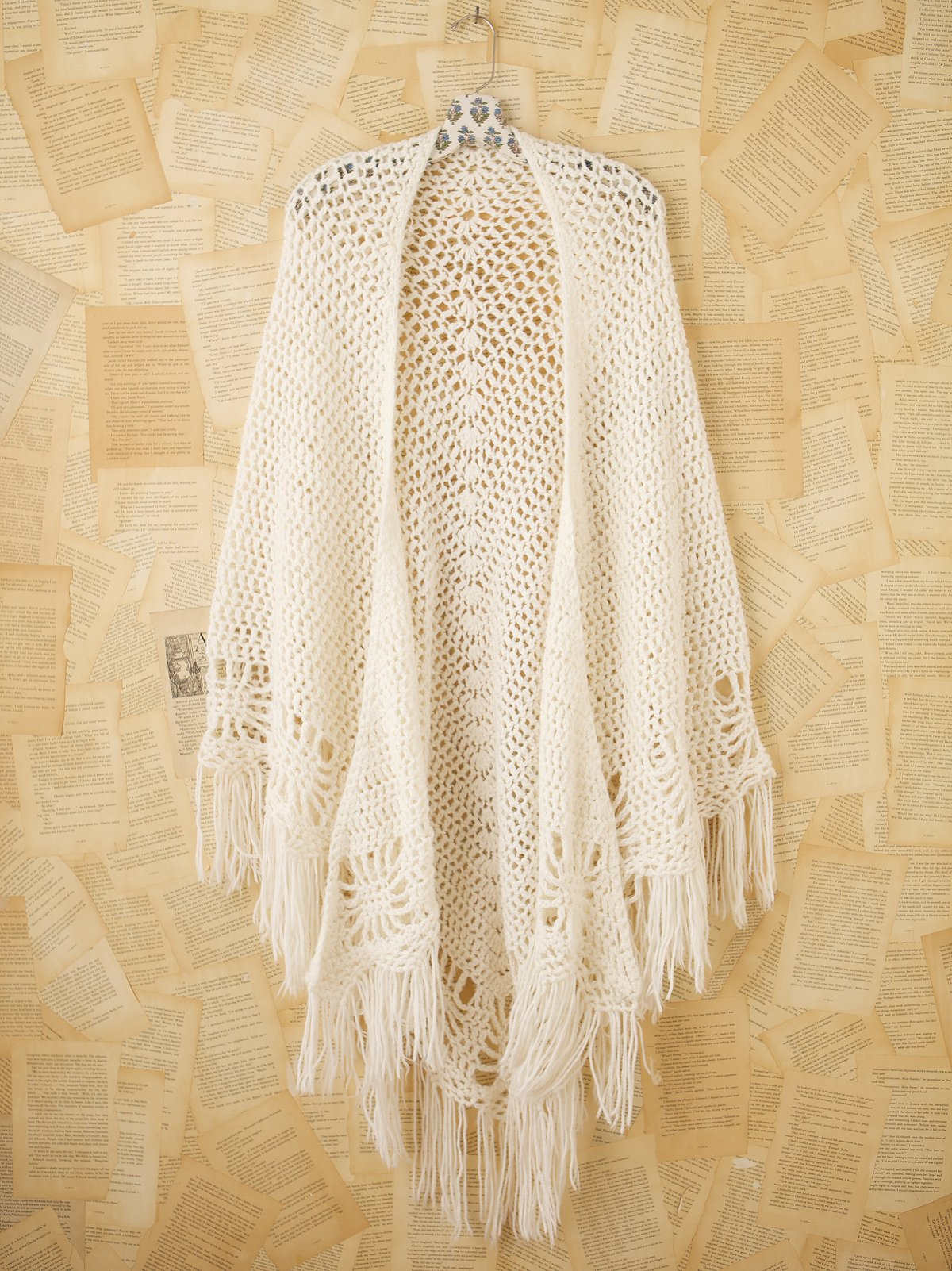 Vintage Granny Knit Shawl