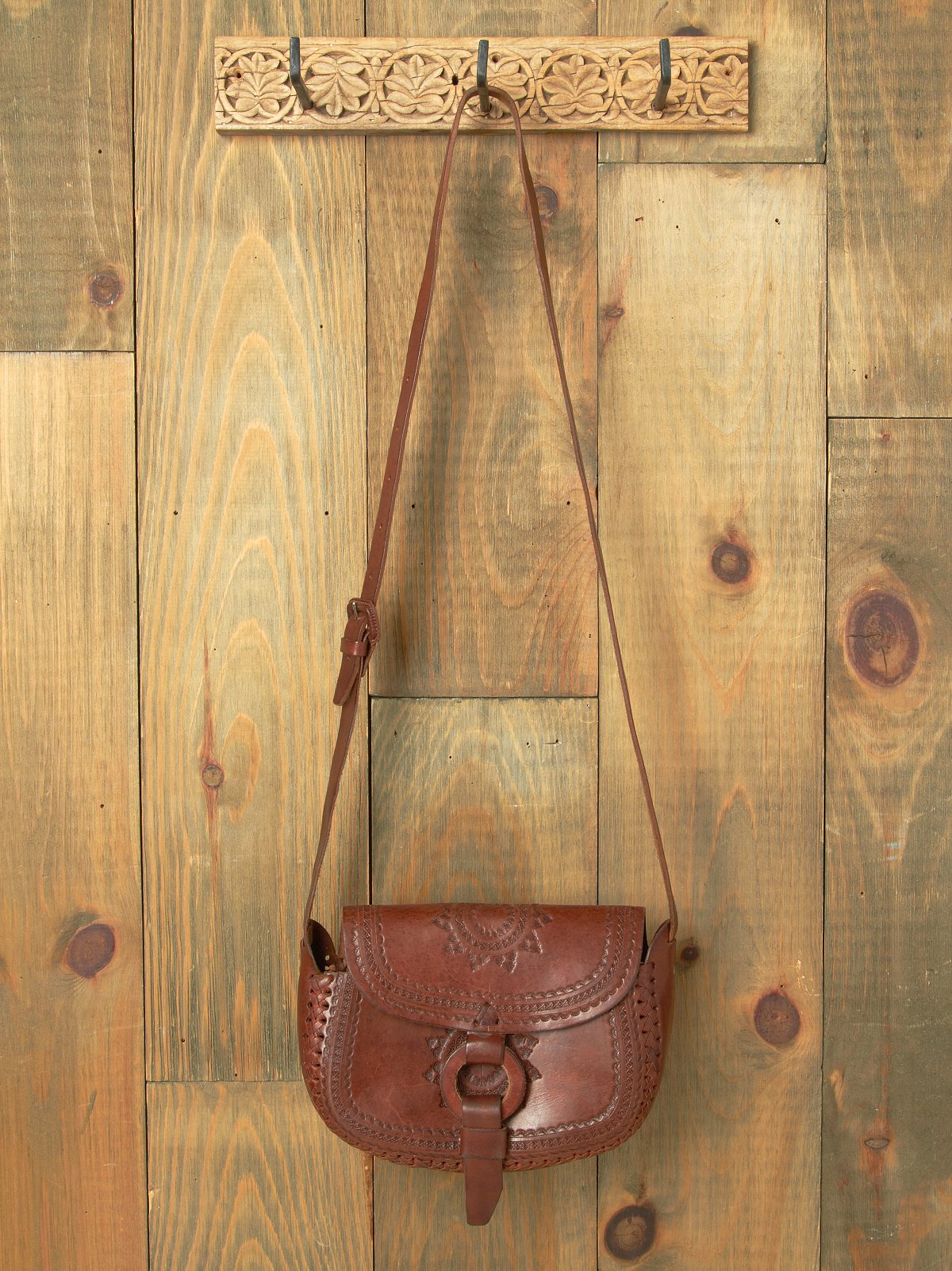 Molokai Tooled Leather Bag