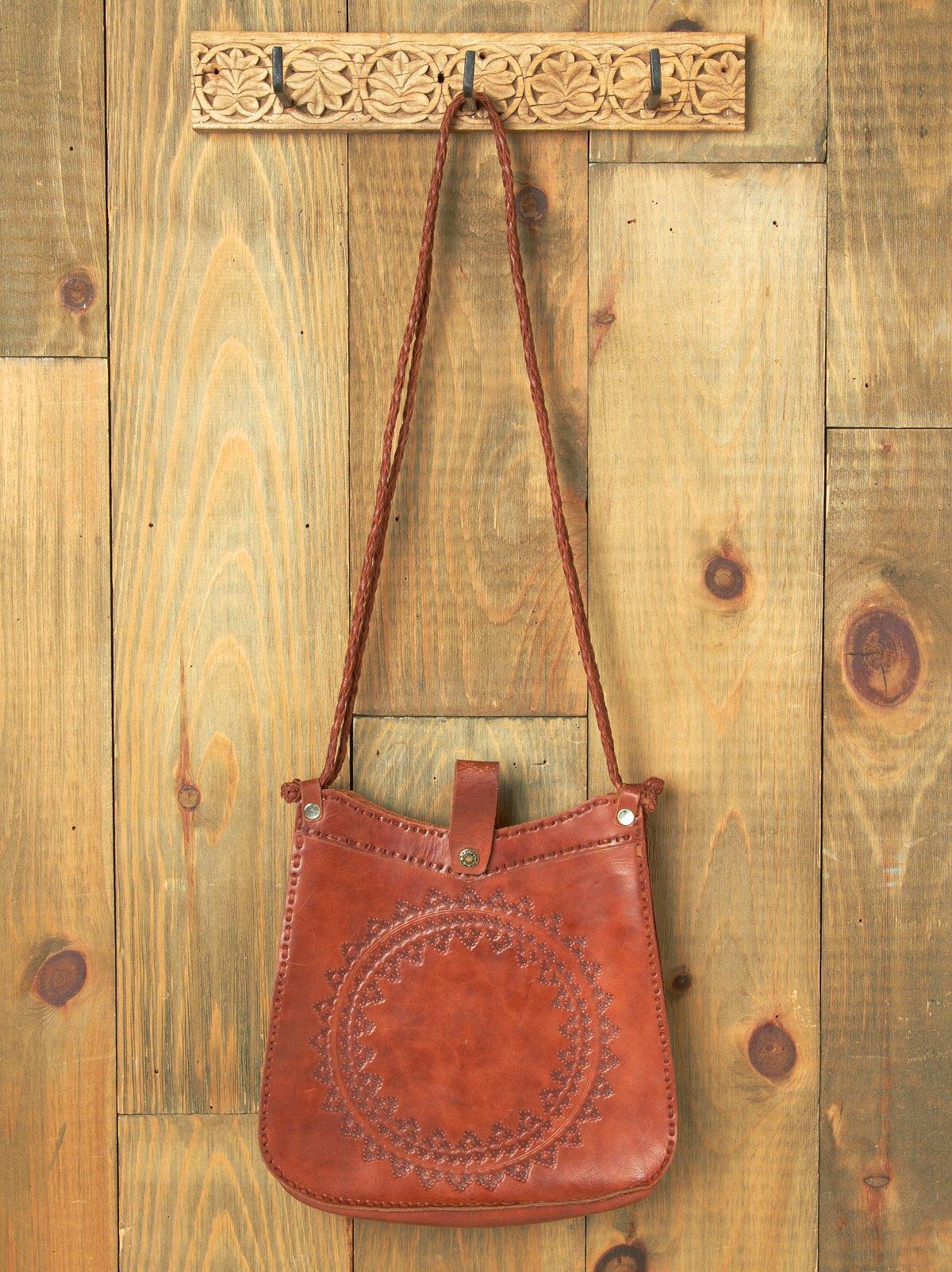 Medallion Leather Shoulder Bag
